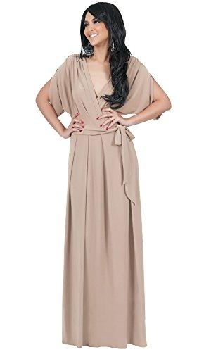 koh-kohr-femmes-robe-longue-elegante-manches-dolman-couleur-marron-clair-taille-l-large
