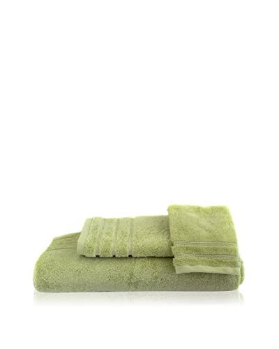 bambeco 3-Piece Organic Cotton 700 Gram Towel Set, Aloe As You See