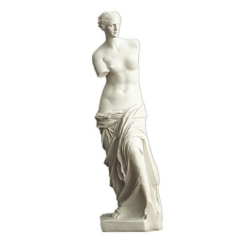HEYFAIR Venus De Milo Statue Greek Goddess of Love and Beauty Statue Sculpture Figurine Figure Polyresin Home Decor Accents (Venus De Milo)
