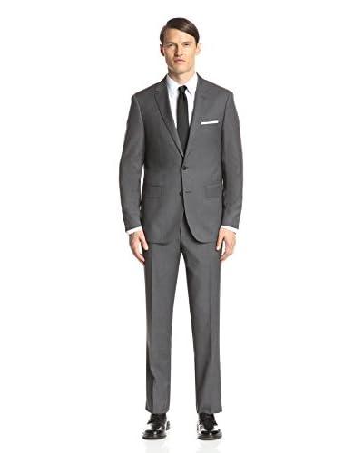London Fog Men's Solid Wool Suit