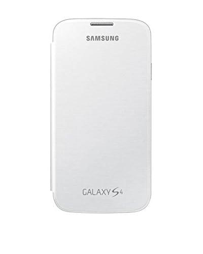 Samsung Flip – Funda para móvil Galaxy S4 (Con tapa, protección del terminal, sustituye a la tapa trasera), blanco