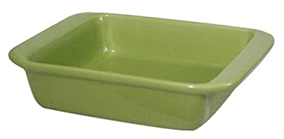 Chantal 2 Quart Square Baker, Glossy Garden Green