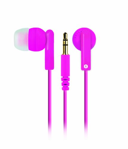 Merkury Innovations M-Hp2020 Hi Light Earbuds - Neon Pink