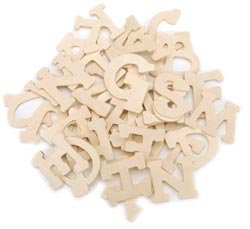 amazoncom bulk buy darice wood letters 175quotx3mm 36 pkg With buy wooden letters in bulk
