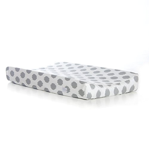 Sweet Potato Swizzle Changing Pad Cover, Pink/Grey/White - 1