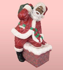 Amazon Com African American Christmas Santa Climbing The