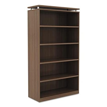 Alera SedinaAG Series Bookcase, Five-Shelf, 36w x 15d x 72h, Walnut SE637236WA