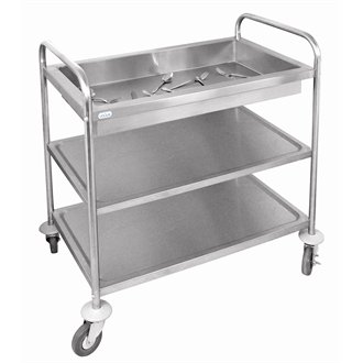 Vogue CC365 Vogue Deep Tray Clearing Trolley