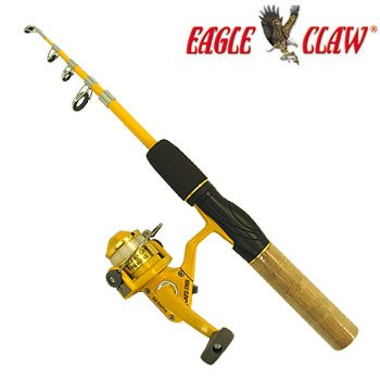 Fishing activity eagle claw telesoping fishing pole Eagle claw fishing pole