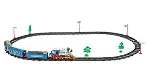 Classic Train Set for Kids 23 Pieces + Train Model with 4 Cars, Lights & Sound + 11 Feet of Tracks