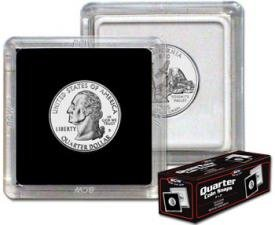2x2 Coin Snap Holder (Quarter) pack of 25