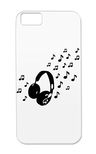 Tpu Baby Family Dj Rock Headphones Notes Head Phones Metal Music Musik Black Music Protective Case For Iphone 5C