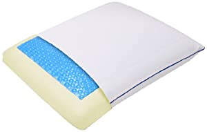 Sleep Innovations Reversible Memory Foam Pillow with CoolGel HD,  Queen Size