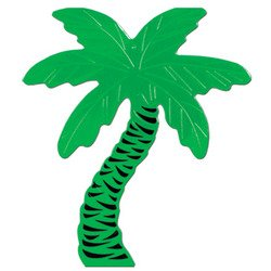 Foil Palm Tree Silhouette Party Accessory (1 count)