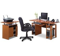 Buy Low Price Comfortable In-Style Computer Work Station & Printer Table Set (B0017LQHOE)