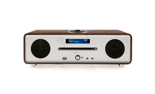 Vita Audio R4I-WALNUT Integrated Music System with CD, DAB/FM Tuner, USB Play  &  iPod Dock in Walnut