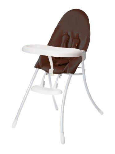 Bloom Nano Urban Highchair, Matt White/Henna Brown - 1