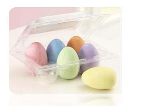 Egg-Shaped Easter Chalk