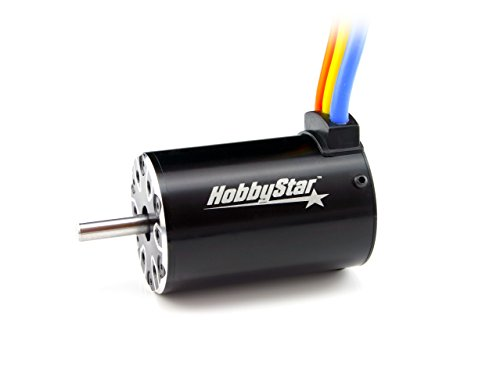 HobbyStar 550 Brushless Sensorless Motor, 4-Pole, 3500KV, 5.0mm Shaft, For 1/10 RC Short Course Truck (540 Brushless Motor compare prices)