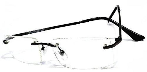 [ZIG's] フレームなきINTELLIGENCE リムレス UV-cut 高品質 ZIG'sネーム メタル 特製クロス&ハードケース付 (glzd01bl+gS,cZ,qZ)