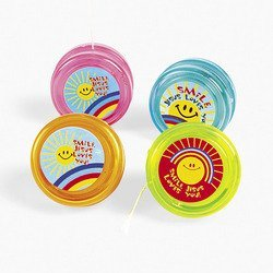 Smile, Jesus Loves You Yo-Yos (1 dozen) - Bulk - 1