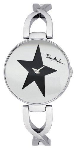 Thierry Mugler - 4721201 - Montre Femme - Quartz Analogique - Cadran Argent - Bracelet Métal Argent