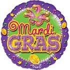 Mardi Gras 18in Balloon