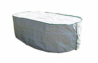 Housse de protection pour table de jardin ovale excl de tyvek avec sac de stockage - Housse salon de jardin table ovale ...