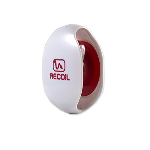 Recoil AUTOMATIC Cord Winder for USB Cables, Phone, Tablet and Reader Chargers, Sync Cables and Other Cords. No More Tangled Cords! The Original Retractable Cord Organizer. White, Size Large (Recoil Automatic Cord Winder compare prices)