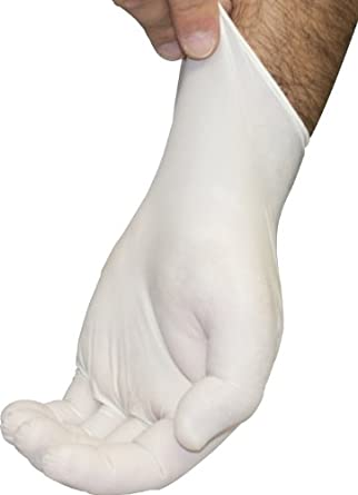Disposable Latex Gloves - Lightly Powdered, Textured, Natural Rubber, Non Sterile, Work, Medical, Food Safe, Cleaning, Wholesale