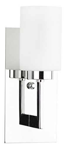 Linea di Liara Brio Polished Chrome One-Light Wall Sconce Lamp with Frosted Glass Shade LL-WL151-PC (Polished Chrome Wall Sconce compare prices)