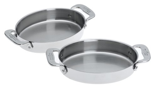All-Clad Stainless-Steel 7-Inch Oval-Shaped Baker, Set of 2