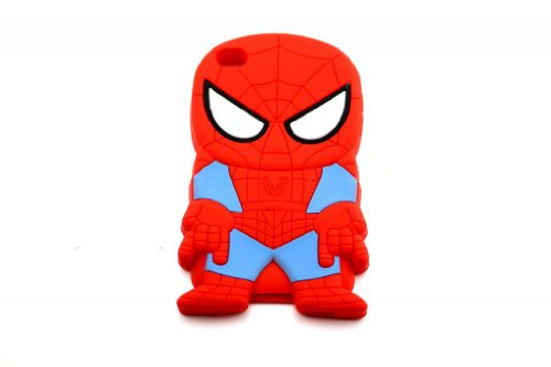 T-WELL 3d Cartoon Hero Spiderman Soft Silicone Back Case Cover Skin for Apple Ipod Touch 4
