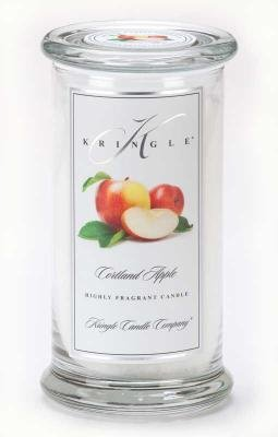 Kringle Candle Company Large Classic Apothecary Jar - Cortland Apple