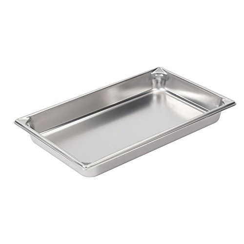 Vollrath 30022 Stainless Steel Super Pan V Steam Table Pan, Full Size, 8.3-Quart front-52404