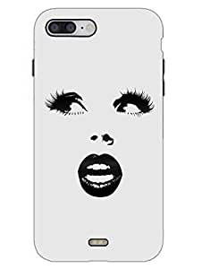 Lady Has Beautiful Eyes - Face Outline - Hard Back Case Cover for iPhone 7 - Superior Matte Finish - HD Printed Cases and Covers