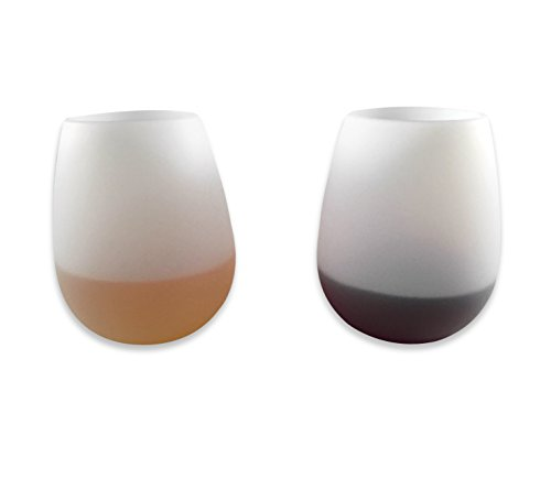 Unbreakable Wine Glasses Champagne Beer Bar Party Cups (Set of 2) - Flexible Glasses, Durable Stemless Drinking Cups 100% Shatterproof Sillicone Drinkware (Hot Tub Bar compare prices)