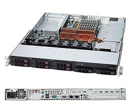 Supermicro 1U integrated 1025W-UB Server with Dual Quad-core Xeon 2.0Ghz processors/32GB DDR2 RAM/ 8x 2.5