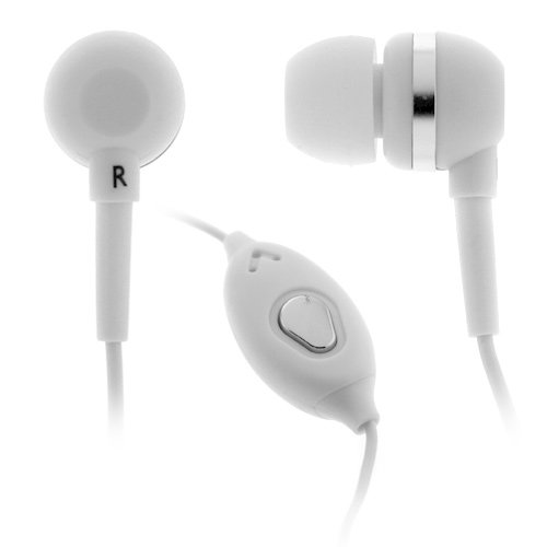 Birugear White 3.5Mm Stereo Headset Handsfree With Microphone For Samsung Ativ Se, Galaxy S5 S4, Galaxy Note 3 2 And More