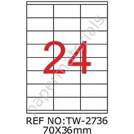 TANEX 2736 tW-étiquettes universelles-blanc - 70 x 36 mm -eckig- 500 feuilles a4