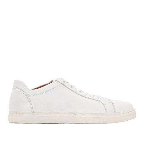 SELECTED - - Uomo - Sneakers en Cuir Blanches Semelle Beige Duran pour homme -