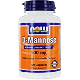 Now Foods D-Mannose 500 Milligram - 120 vcaps