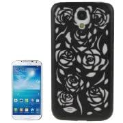 Hollow Out Rose Flowers Pattern Protective Hard Case for Samsung Galaxy S IV / i9500(Black)