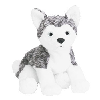 TY Beanie Baby - MUKLUK the Husky Dog (white eyes)