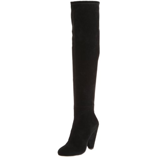 Steve Madden Women's Brewster Knee-High Boot,Black,7.5 M US