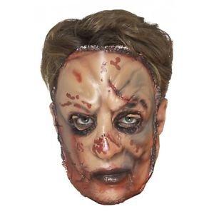 Flesh Mask Adult Scary Hannibal Lecter Halloween Costume Fancy Dress (Horror Flesh Grey Makeup)