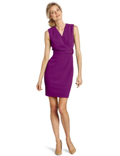 Calvin Klein Women's Sleeveless Side Detail Sheath Dress