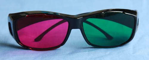 New 3D Visonal Green Red glasses for home on