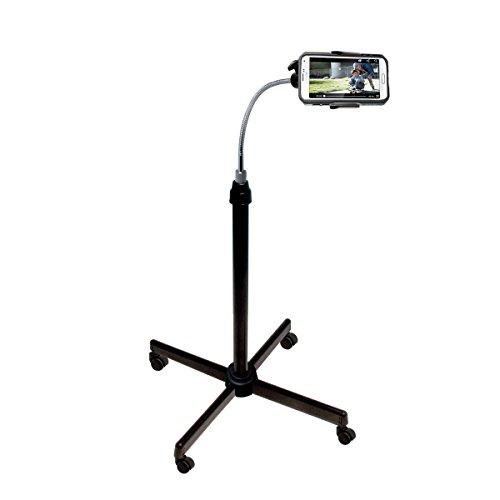 CTA Digital CTA Digital Universal Height Adjustable Gooseneck Floor Stand with Casters for Smartphones