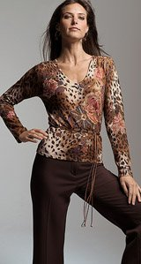 Buy FLORAL-TOSSED ANIMAL PRINT SWEATER